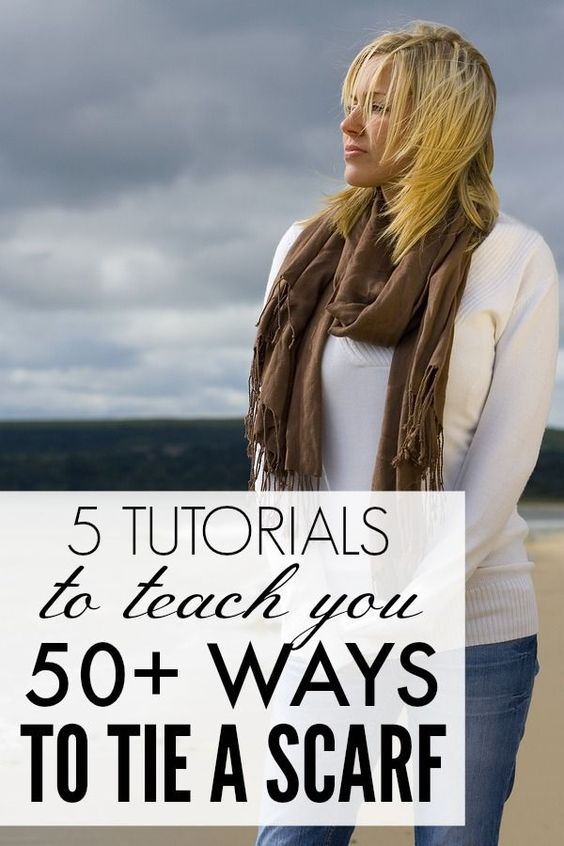 5 Tutorials To Teach You How To Tie A Scarf For Fall