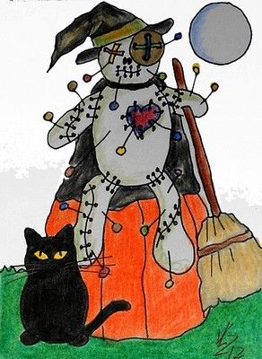 HALLOWEEN WITCH VOODOO DOLL #3 ACEO ON EBAY