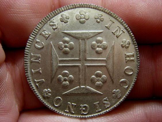 Cruzado Novo D. Maria II 1833 Peso: 14,68 Grs Prata toque: 916,6%o