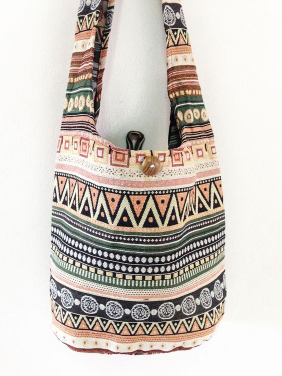 NEW Thai Shoulder Bag CrossBody Bag Cotton Bag Hippie Boho Handmade Multi Color  #thaibag #hippie