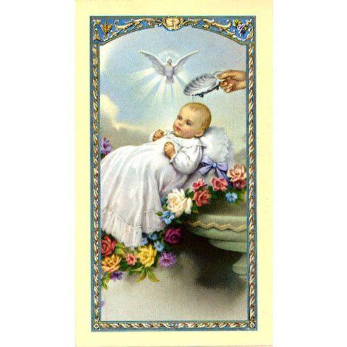 God sent You the Best - Baptismal Holy Card (25 card set)