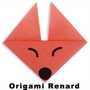 origami facile pour r aliser une t te de renard en pliage. Black Bedroom Furniture Sets. Home Design Ideas