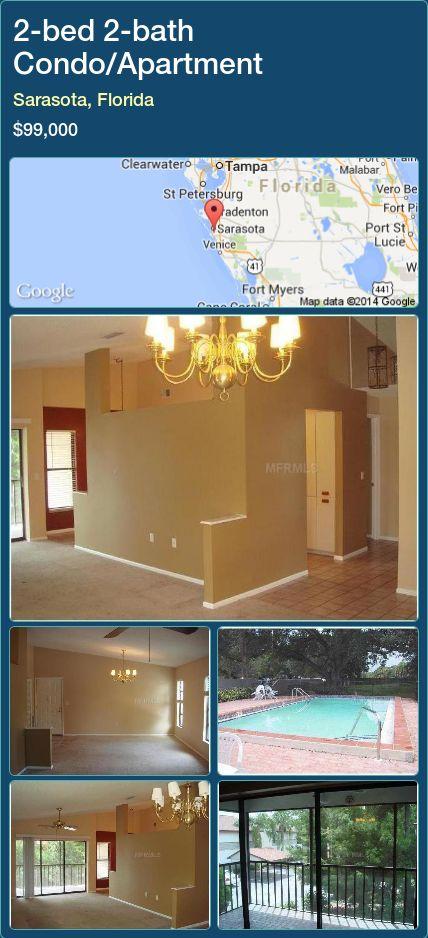 2-bed 2-bath Condo/Apartment in Sarasota, Florida ►$99,000 #PropertyForSaleFlorida http://florida-magic.com/properties/27232-condo-apartment-for-sale-in-sarasota-florida-with-2-bedroom-2-bathroom