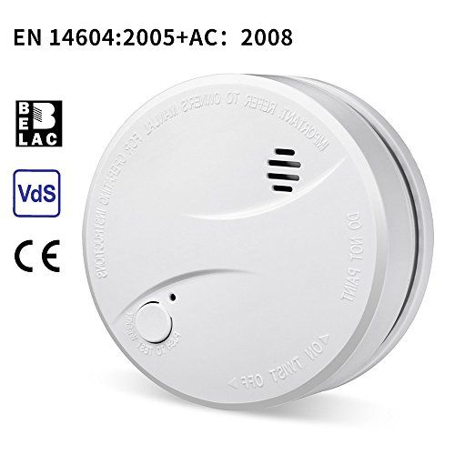 Heiman Smoke Alarm With 10 Year Battery Life Vds En14604 And Ce Certified Smoke Detector With Intelligent Fire Alarm Photoelectric Sensor 625phs 1 Pack Smoke Alarms Photoelectric Sensor