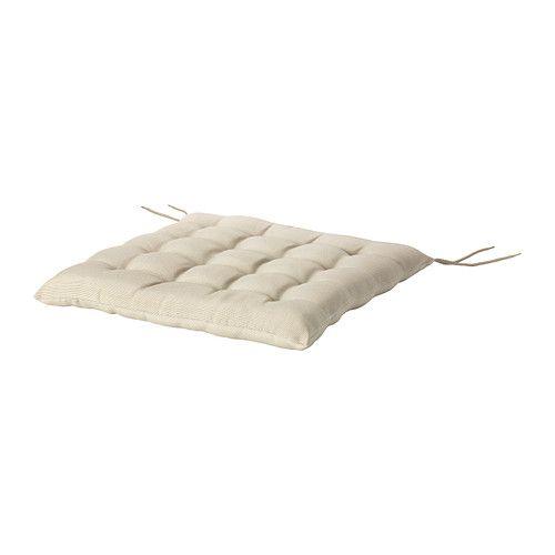 HÅLLÖ Stuhlpolster/außen IKEA Bänder verhindern das Verrutschen des Kissens. Rundum bezogen, beidseitig anwendbar und daher länger haltbar.