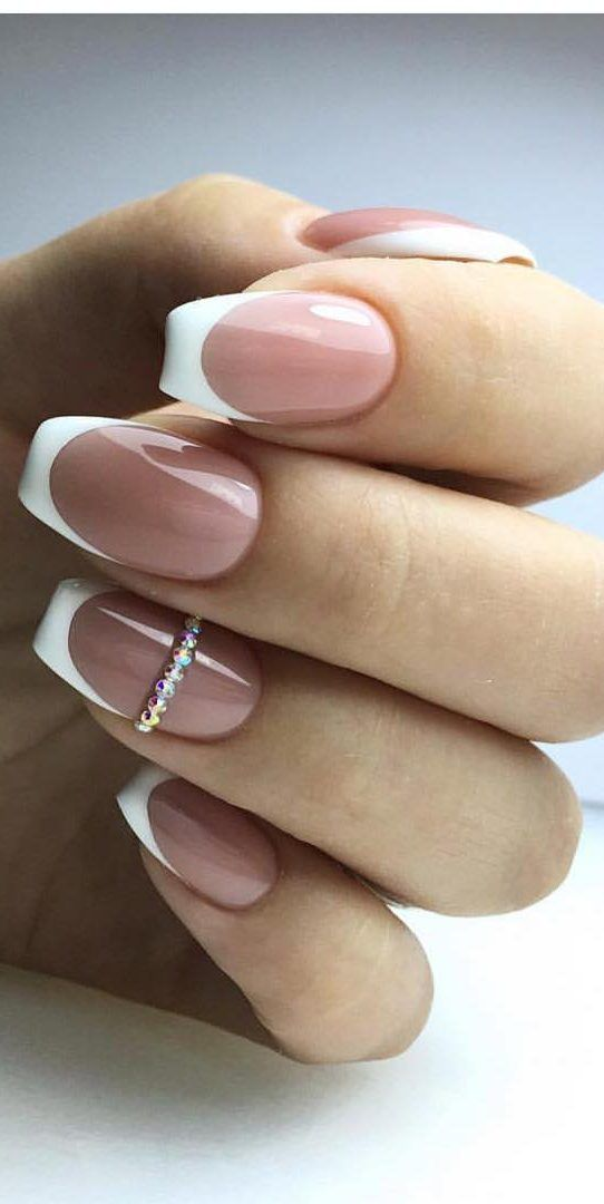 45 Gorgeous French Tip Nails Designs For A Stylish Women Ideas 2019 Styles Art French Nail Designs French Tip Nail Designs French Tip Nails