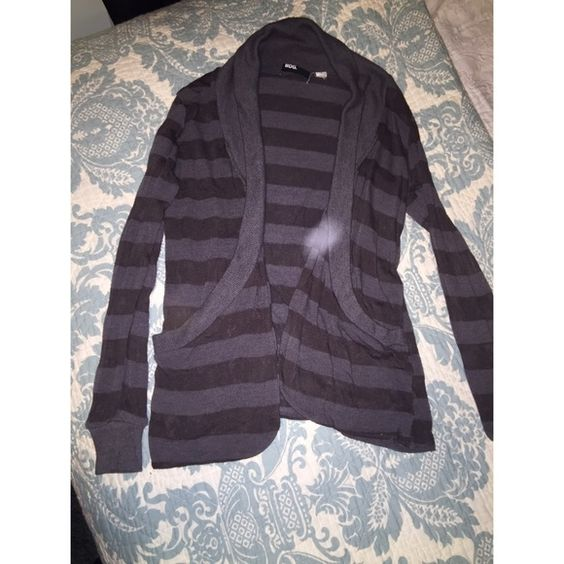 Urban outfitters cardigan Urban outfitters BDG grey striped cardigan. White mark is not a stain its from the flash Urban Outfitters Tops
