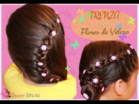 Peinados Vale, Videos Peinados, Peinados Infantiles, Peinados Para Niñas, Peinados Faciles, Fiesta Trenza, Peinados Fiesta, Lado Peinado, Peinado Para