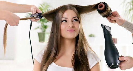 Planchado o secado para alisar el pelo sin dañarlo.