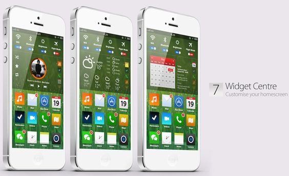 home screen ios7 concept A stunning concept of what Apples iOS 7 could (and perhaps should) be like [Video]