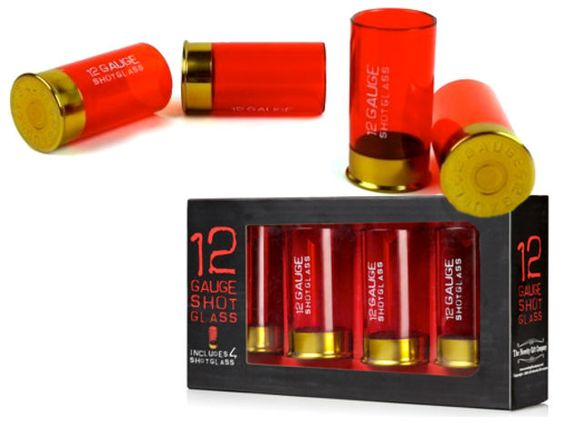12 Gauge Shotgun Shell Shot Glasses