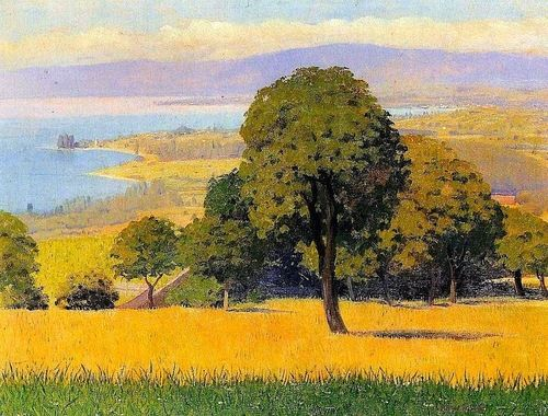 bofransson: Félix Vallotton (Swiss, 1865-1925), Outskirts of Lausanne, 1893.