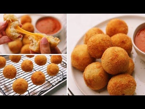 ألذ كرات بطاطس محشية بالجبن Cheese Stuffed Potato Balls Youtube Food Breakfast Cereal