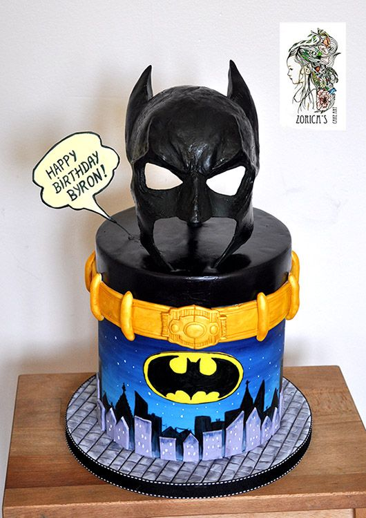 Batman Cake Mask Made From Gum Paste It S Hanging