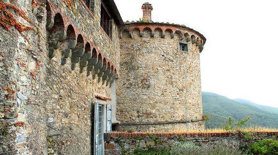 Malaspina Castle of Fosdinovo in Italy