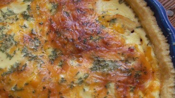 Easy Sour Cream Chicken Quiche Recipe Quiche Recipes Chicken Quiche Recipes