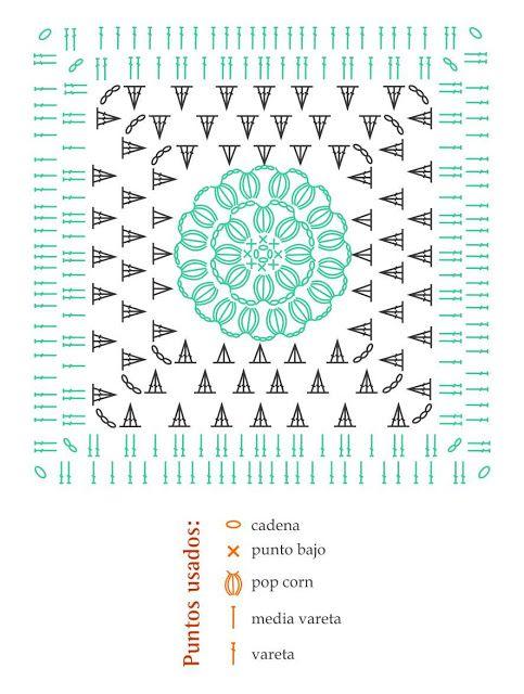FREE granny crochet chart: