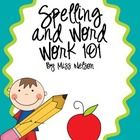 Spelling and Word Work 101 - $3.50