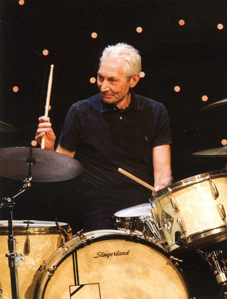 Drummerworld: Charlie Watts - Still Rockin' with the Stones after all these years!!!