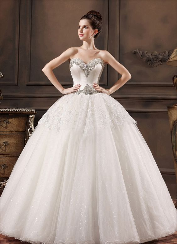 modabridal.co.uk SUPPLIES UK Style Crystal Ball Gown Natural Elegant & Luxurious Sweetheart All Sizes Appliques Sleeveless Wedding Dress Tulle Wedding Dresses: