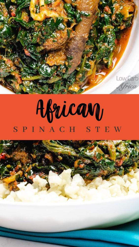 Efo riro - Nigerian Spinach Stew