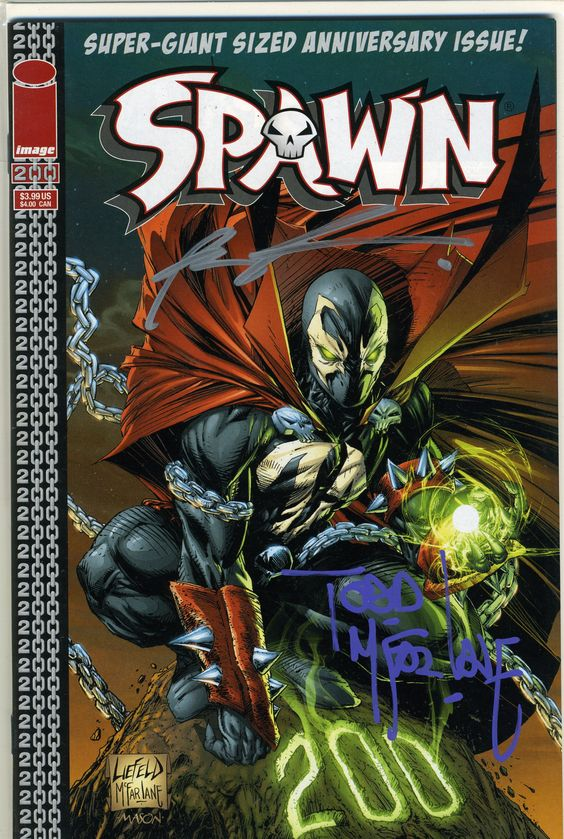 Spawn #200 Variant signed by Todd McFarlane & Rob Liefeld at Golden Apple Comics, Jan. 2011