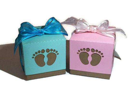 Baby Feet Favor Box by KreateNKutDesigns on Etsy