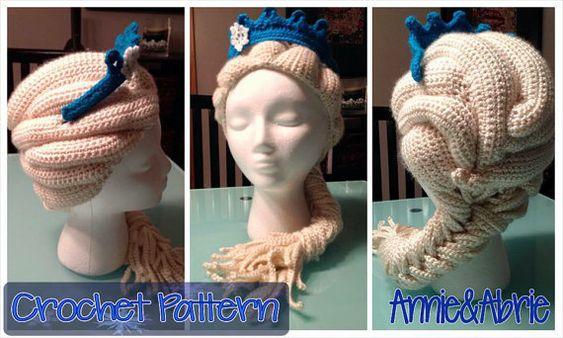 Disney's Frozen Elsa Inspired Crochet Hat/Wig por MissAnnieBananas