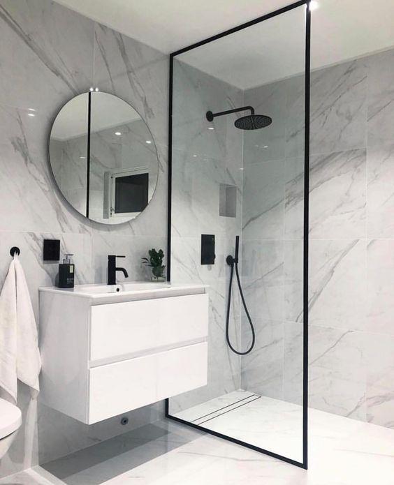 40 of The Best Modern & Functional Bathroom Design Ideas #bathroomdecor #bathroomdesign #bathroomideas