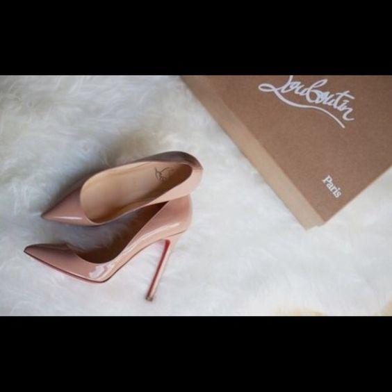 Louis Vuitton So Kate nude pumps Louis Vuitton So Kate nude pumps worn once! Louis Vuitton Shoes Heels