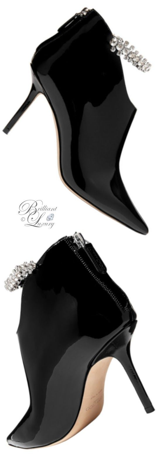Womens Leather Pointy Toe Crystal Wedge High Heels Zip Ankle Boots Shoes HOT D7