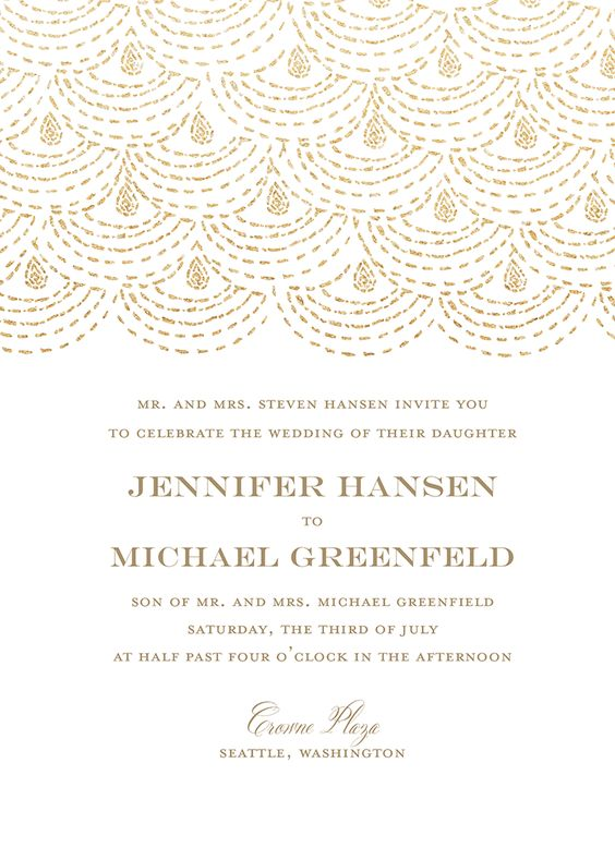 Beaded Elegance - Wedding Invitations - Wedding - Custom Print ...