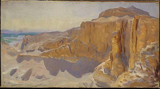 Deir el Bahri, Sargent. 1890-91