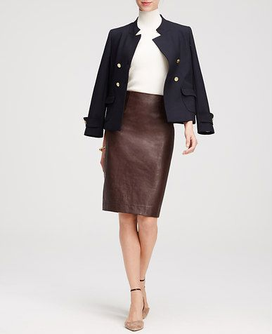 Petite Stitch Stripe Skirt   Leather, Skirts and Faux leather ...