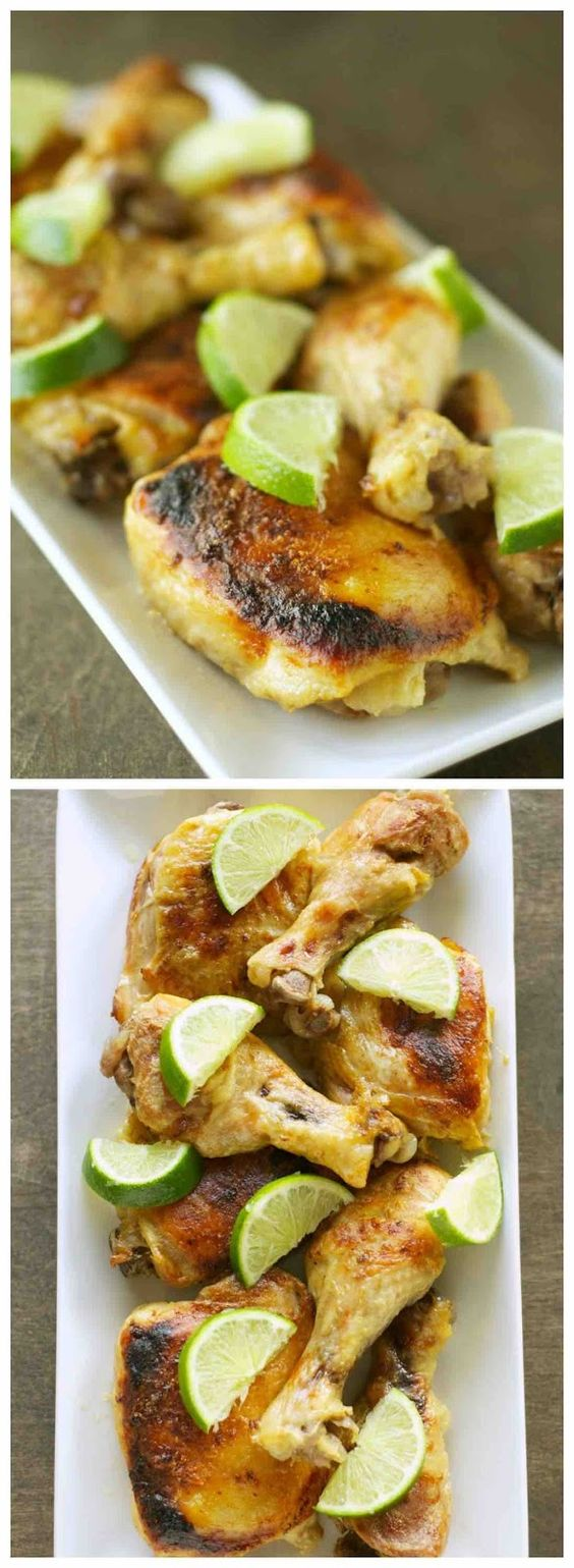 Crockpot Coconut Lime Chicken from Crockpot Gourmet; sounds amazing for a perfect #SummerDinner from the #SlowCooker!  [Featured on SlowCookerFromScratch.com]