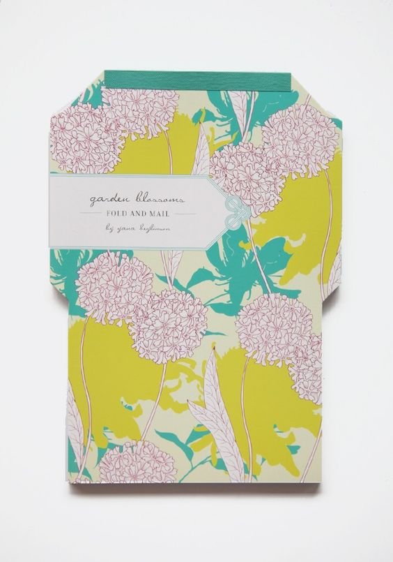 Garden Blossoms Fold And Mail By Yana Beylinson
