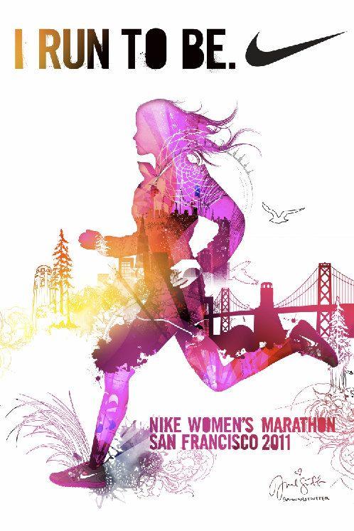 Nike Womens Marathon Poster. $20.00, via Etsy.