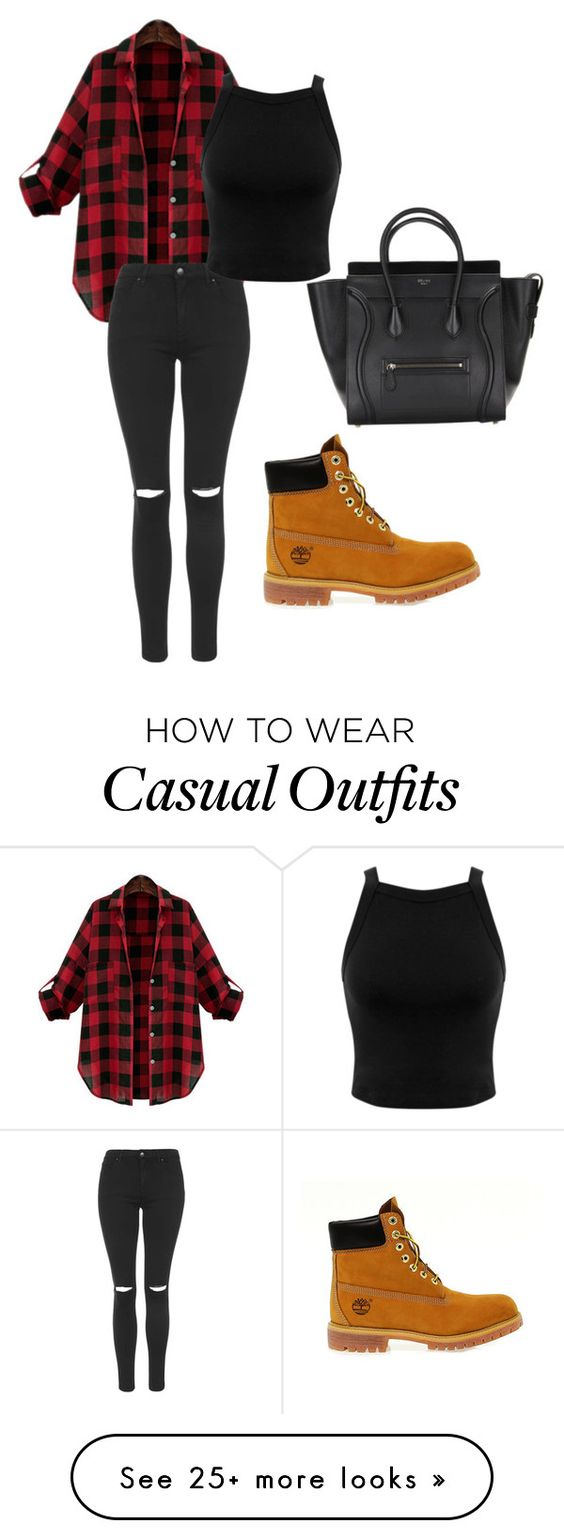 """""""Casually Cute"""" by luv-devonne-style on Polyvore featuring Timberland, Topshop and Miss Selfridge"""
