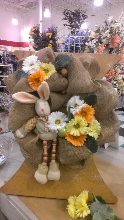 Easter burlap. Robin Evans