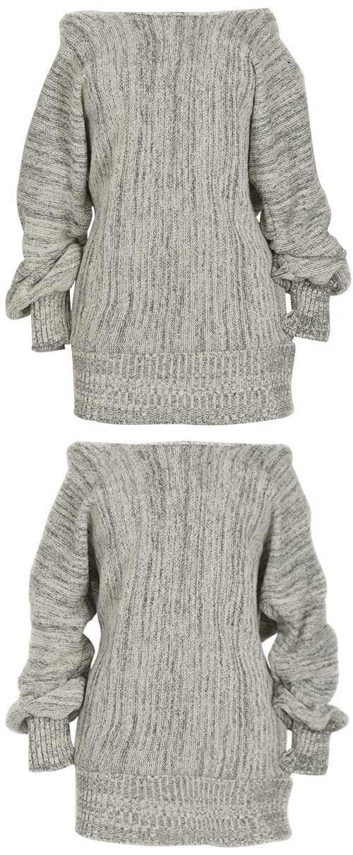 The off the sholder sweater is a good choice in the cool of ...