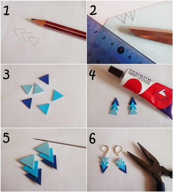 DIY : Boucles d'oreilles en simili cuir: