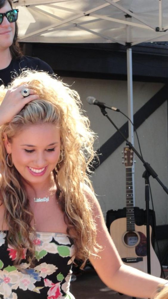 Haley Reinhart in Candy Striped Heels on the Water