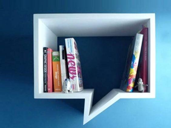 Kitaplık ve Raflar, | Konuşma Balonu Raf Tekli, | raflar ve kitaplıklar, dekoratif raflar, modern raflar, özel tasarım raflar, ucuz raflar, | Türkiye'nin En Özel Ev Dekorasyonu ve Mobilya Online Alışveriş Sitesi - evhikayesi.com: Bubble Bookshelf, Bookshelf Design, Bookshelves Dressers Tables, Crazy Bookshelves, Cool Bookshelves, Dream Bookshelves, Comic Bookshelves, Bookshelves This