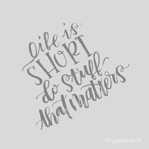 Chrystalizabeth life is short posts and modern calligraphy