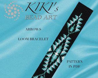 Bead loom pattern Lakota star LOOM bracelet PDF par KikisBeadArts