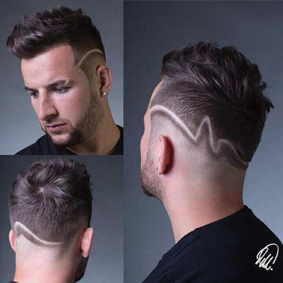 Peinados Con Lineas O Rayas Para Hombres De Peinados Tatuajes De Pelo Grecas Cabello Cabello Para Hombres