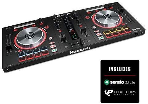 Amazon Com Numark Mixtrack Pro 3 All In One 2 Deck Dj Controller For Serato Dj Including An On Board Audio Interfa Intro Powered Speakers