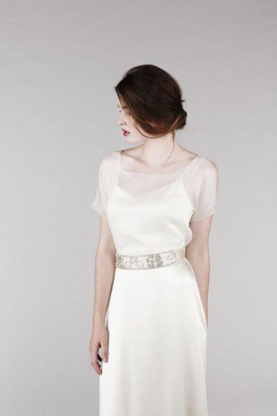 Saja wedding dress: http://www.stylemepretty.com/2014/10/25/14-incredible-illusion-neckline-wedding-dresses/ #SMPLookBook