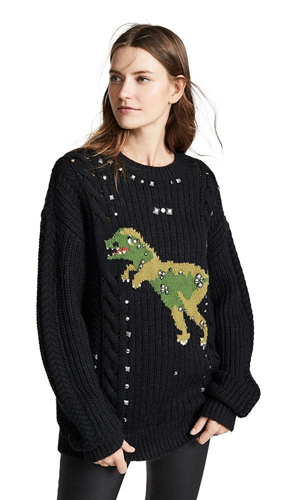 Coach 1941 Rexy Cable Knit Sweater | SHOPBOP