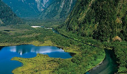 Backpacker Mag's list of secret spots. New Zealand Milford Track pictured.